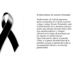 El fallecimiento de Antonio Fernández