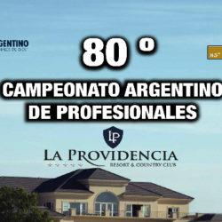 80° CAMPEONATO ARGENTINO DE PROFESIONALES