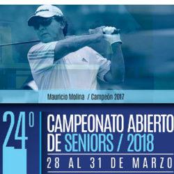 24° Campeonato Abierto de Seniors 2018
