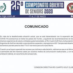 26° Campeonato Abierto de Seniors 2020